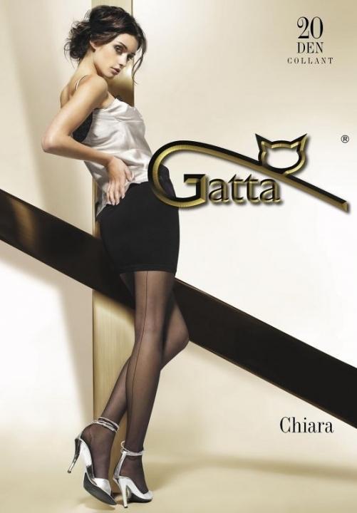 CHIARA rajstopy ze szwem i zaznaczoną piętą Gatta, czarne, beżowe