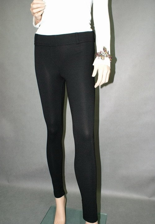 ELEGANTE spodnie rurki z dzianiny z kieszeniami i szlufkami czarne włoskie, szare ciemne