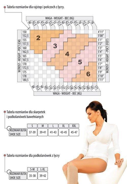 MONA MEDICA 40 den 8-10mm/Hg podkolanówki przeciwżylakowe Lycra