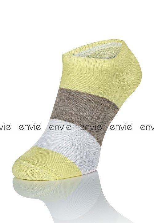 ENVIE MULTI DF02 YELLOW żółte stopki - zakostki z bawełną