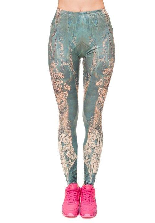 PLANET wzorzyste legginsy