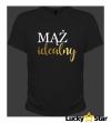 Zestaw koszulek dla par ŻONA idealna, Mąż idealny