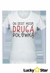 Zestaw koszulek dla par DRUGA I LEPSZA POŁÓWKA