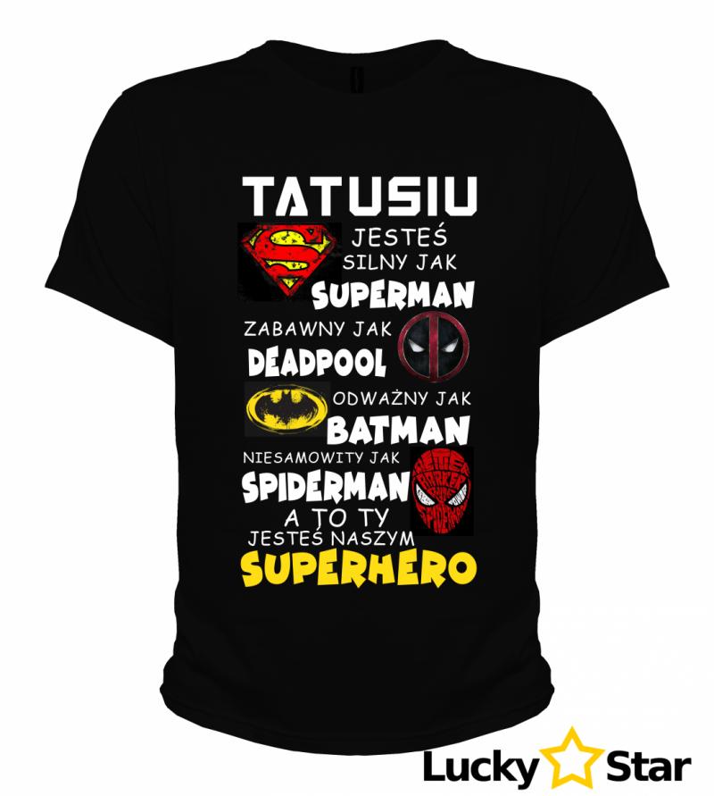 Koszulka Męska Tata SUPERHERO
