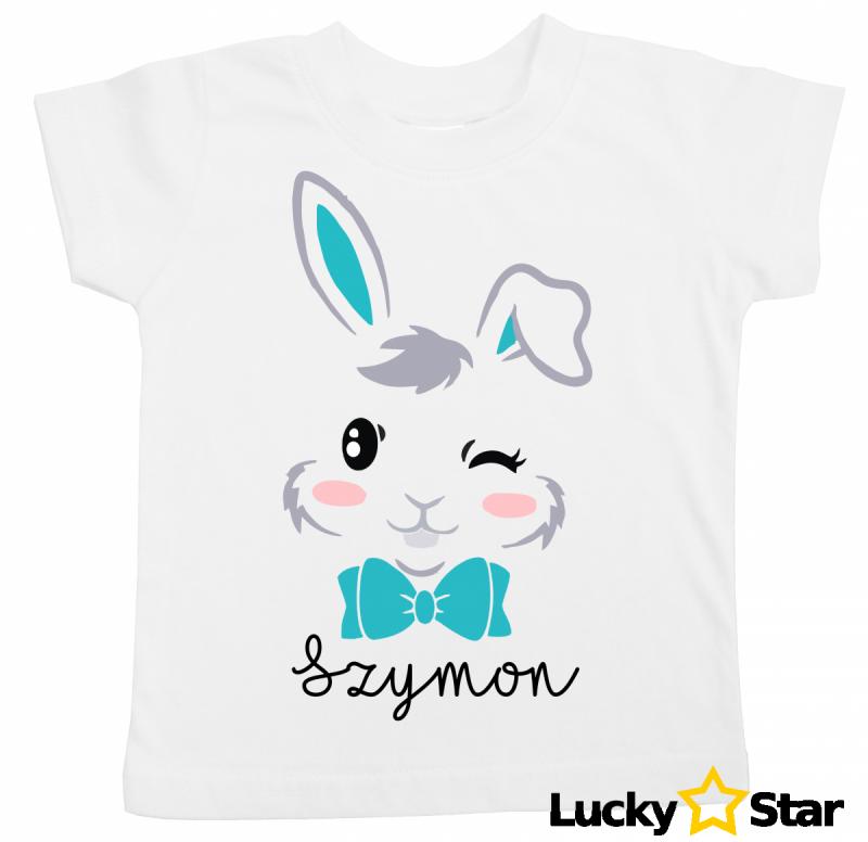 Koszulka króliczek + wybrane imię
