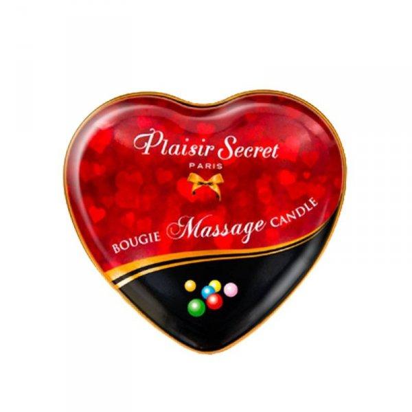 Świeca do masażu erotycznego o zapachu gumy balonowej