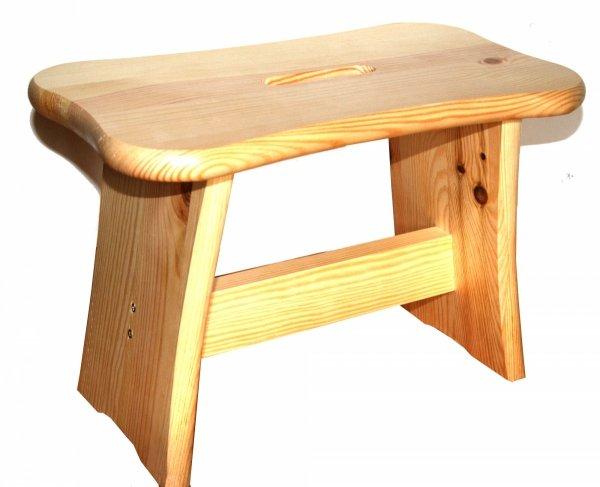 Krzesełko Drewniane Ryczka Stołek Taboret