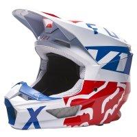 FOX KASK OFF-ROAD V1 SKEW WHITE/RED/BLUE