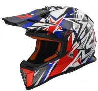 KASK LS2 MX437J FAST MINI STRONG WHITE RED BLUE