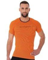 Brubeck SS11920 Koszulka męska 3D Run PRO z krótkim rękawem pomarańczowy