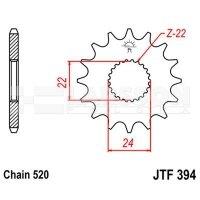 Zębatka przednia JT F394-14, 14Z, rozmiar 520 2200780 Aprilia RX 125