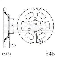 Zębatka tylna stalowa JT 20-0846-43, 43Z, rozmiar 415 2300966