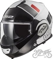 KASK LS2 FF399 VALIANT PROX WHITE BLACK RED