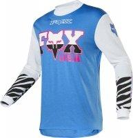 FOX  BLUZA OFF-ROAD RETRO ZEBRA CYAN