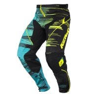 KENNY SPODNIE  OFF-ROAD PERFORMANCE AQUA/YELLOW