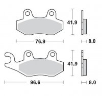KLOCKI HAMULCOWE KH135 / KH214 METALICZNE: 11 KAWASAKI: KX 125-250-500, KDX 200-250, SUZUKI: RM MOTO-MASTER M091911