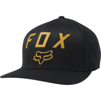 FOX CZAPKA Z DASZKIEM NUMBER 2 FLEXFIT BLAC/YELLOW