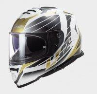 KASK LS2 FF800 STORM  NERVE WHITE ANTIQUE GOLD