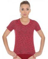 Brubeck SS11570 Koszulka damska z krótkim rękawem FUSION ciemnoczerwony