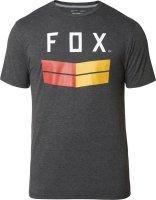FOX T-SHIRT FRONTIER TECH HEATHER BLACK