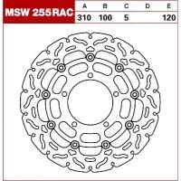 TRW Tarcza hamulcowa MSW255RAC SUZUKI VZR 1800 R2