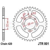 Zębatka tylna stalowa JT 801-45, 45Z, rozmiar 420 2300072 Kawasaki AE 80
