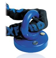 Oxford kotwa mocowana do betonu Rota Force z uchwytem na łańcuch kolor niebieski wymiary 59 x 26 mm