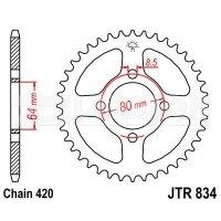 Zębatka tylna stalowa JT 834-35, 35Z, rozmiar 420 2300333 Yamaha PW 80