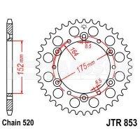 Zębatka tylna stalowa JT R853-48, 48Z, rozmiar 520 2302511 Yamaha YZ 250
