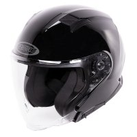 OZONE KASK OTWARTY OPEN FACE SQUARE GLOSS BLACK