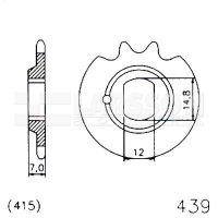 Zębatka przednia JT 20-0439-11, 11Z, rozmiar 415 2200702 Kreidler MF22 25