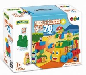Klocki Middle Blocks big - 70el. WADER 41582