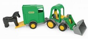 Traktor ładowarka Farmer z Przyczepą na Konia