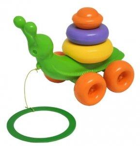 Ślimak zabawka edukacyjna 8 el. WADER 42230