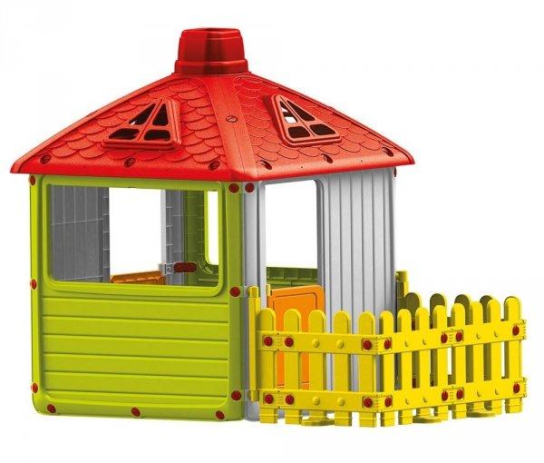 DOMEK z oknami i płotkiem  - DOLU DL3011