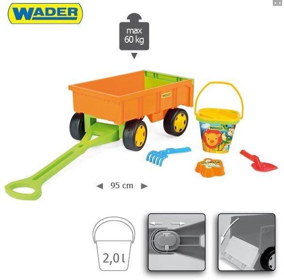 Gigant Truck  wywrotka z  przyczepą +zestaw do piasku Wader 65005 + 10952