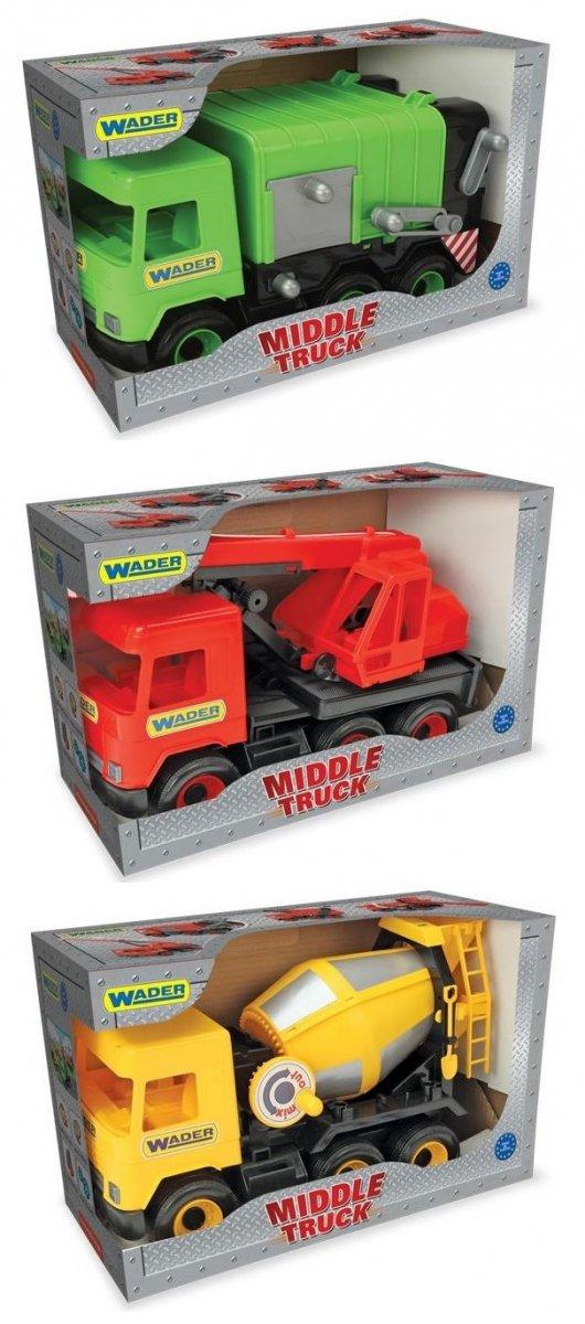 Middle Truck  śmieciarka yellow  w kartonie Wader 32123