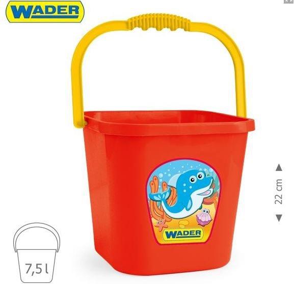 Wiaderko  7,5L3 kolory WADER 71708