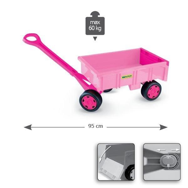 Wader Wózek - przyczepa dla dziewczynek - 10958