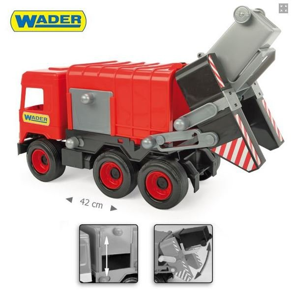 Middle Truck  śmieciarka red w kartonie Wader 32113