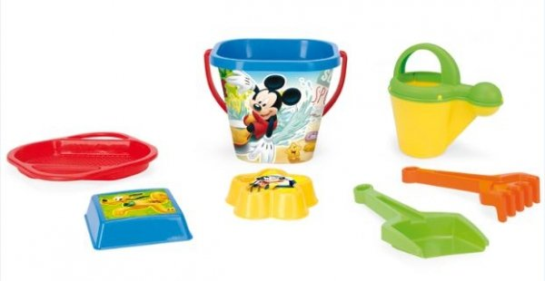 Komplet do piasku 7 el. Mickey Mouse WADER 77242