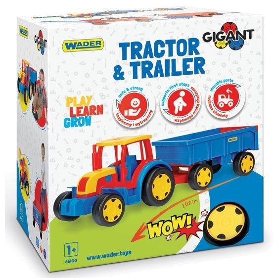 Wader Traktor Gigant z Przyczepą - 66100
