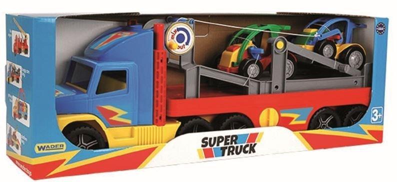 Super Truck z autkami buggy Wader 36630
