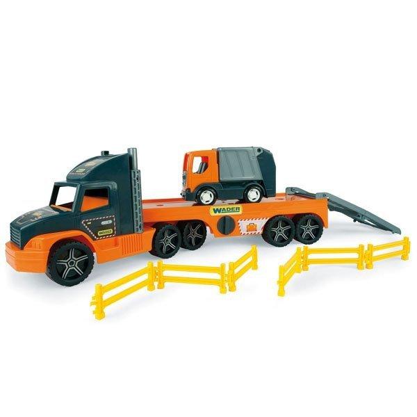Super Tech Truck Laweta ze Śmieciarką  Wader 36730