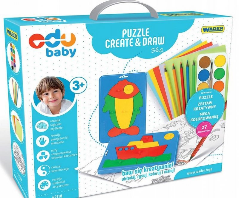 Puzzle CREATE&DRAW Sea EDU BABY WADER 42110