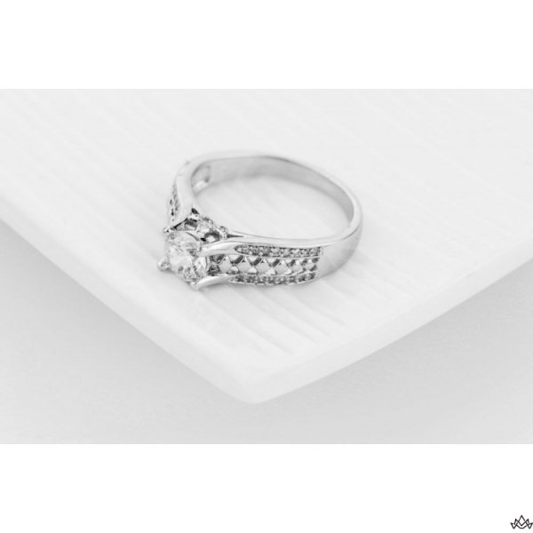 PIERŚCIONEK KRYSZTAŁKI STAL CHIRURGICZNA 464, Rozmiar pierścionków: US6 EU11