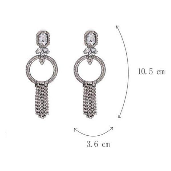 Kolczyki wiszące kryształki K1000