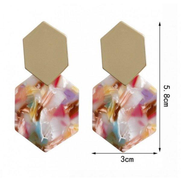 KOLCZYKI plastikowe proste biel K1156B