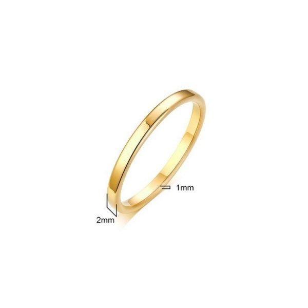 Pierścionek stal chirurgiczna platerowana złotem PST525, Rozmiar pierścionków: US8 EU17