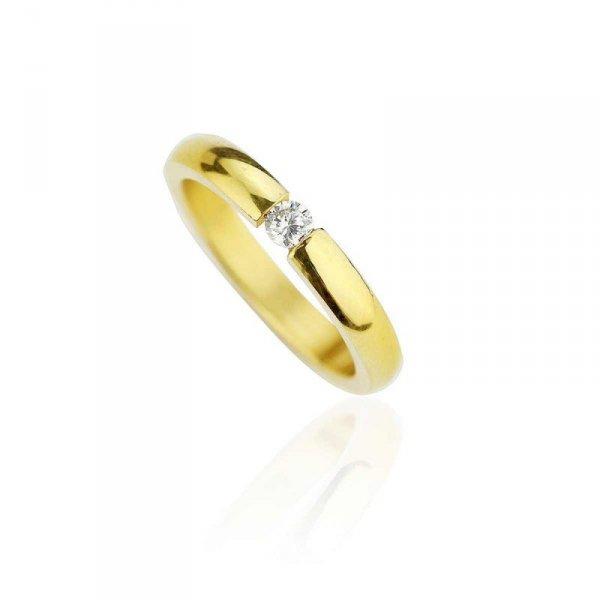 Pierścionek stal chirurgiczna platerowana złotem PST533, Rozmiar pierścionków: US6 EU11